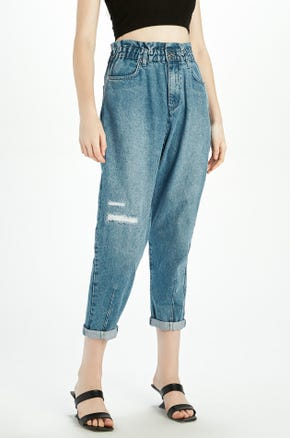 Tapered Paperbag Jeans