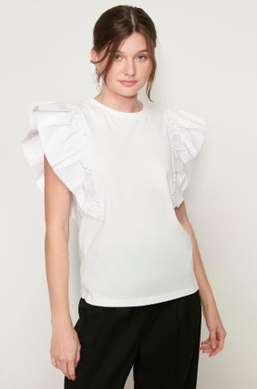 Oversized Ruffles T-Shirt
