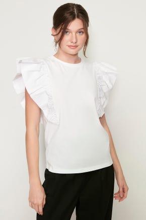 Oversized Ruffles T-Shirt