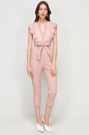 Pink Eyelet Jumpsuit