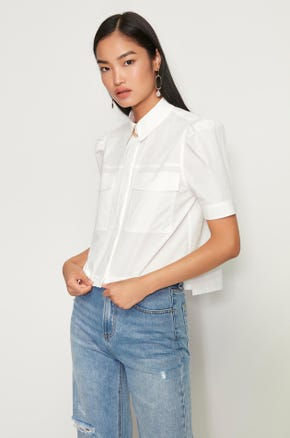 Gold Chain Flap Pocket Shirt