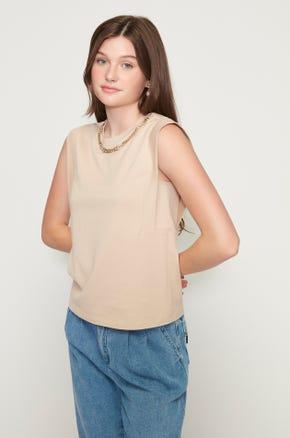 Sleeveless Gold Chain T-Shirt