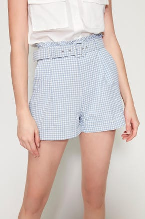 Blue Seersucker Shorts