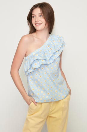 Daisy One Shoulder Ruffle Top