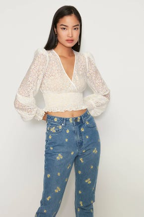 Daisy Wrap Top Blouse