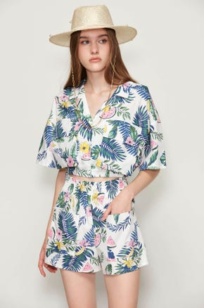 Tropical Watermelon Resort Shirt