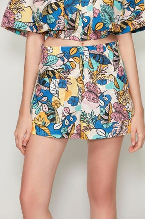 Tropical Patch Pocket Shorts
