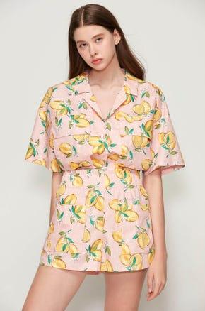 Lemon Print Resort Shirt