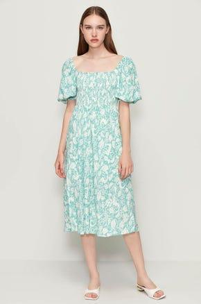 Mermaid Print Midi Dress