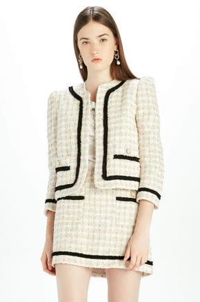 Beige Tweed Blazer