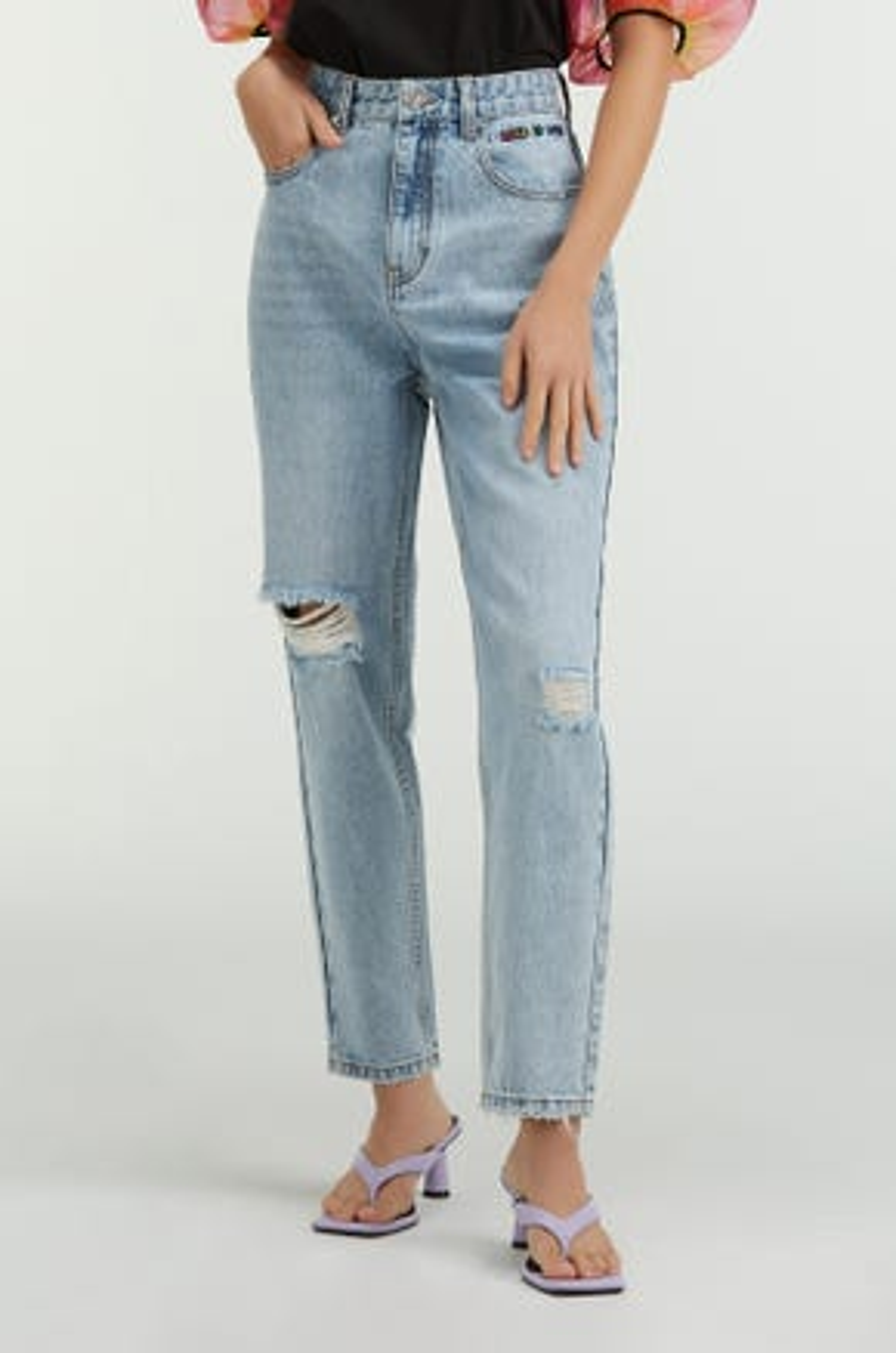 Rainbow Mom Jeans