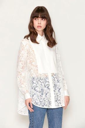 Oversized Lace Blouse
