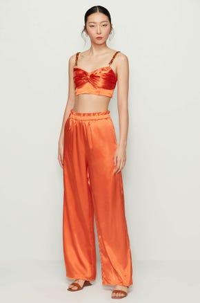 Orange Wide Leg Pants