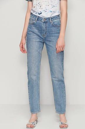 Acid Wash Straight Leg Jeans