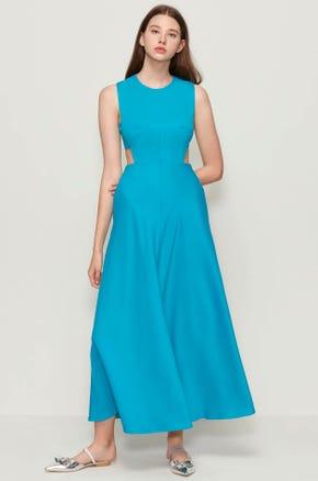 Sleeveless Cut Out Maxi Dress