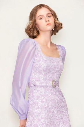 Purple Belted Dress