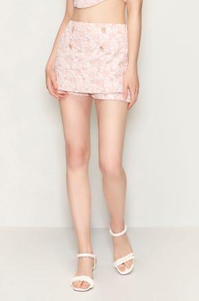 Embellished Pink Skort