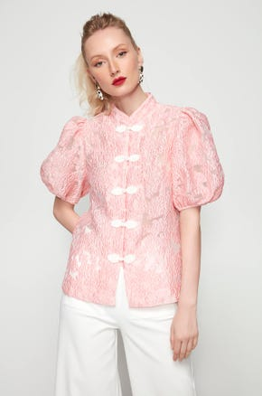 Pink Chinese Blouse