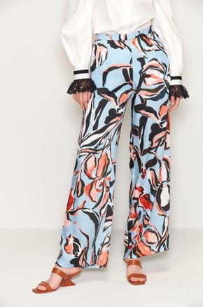 Abstract Floral Pants