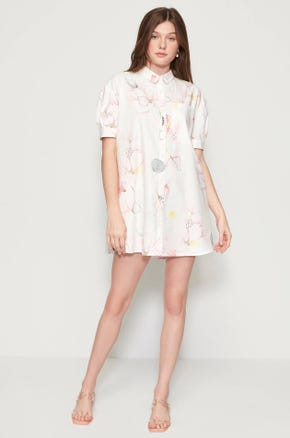 Floral Babydoll Shirt Dress