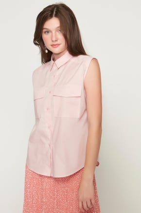 Sleeveless Utility Shirt