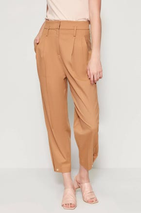 Pleated Ankle Pants