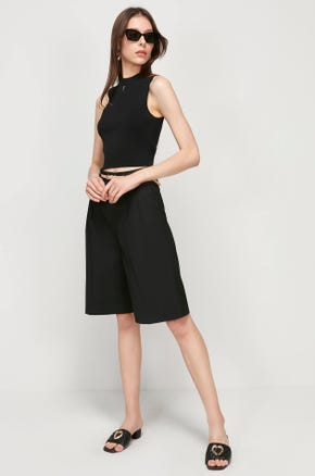 Cropped Pleated Culottes