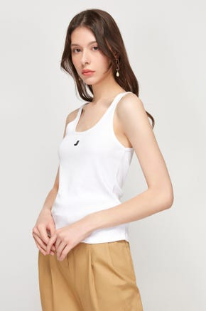 Ribbed Logo Tank Top