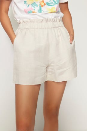 Linen Paperbag Shorts