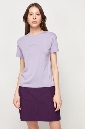 Pima Cotton T-Shirt - Purple
