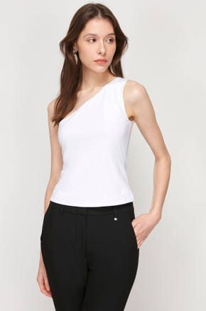 Sleeveless One Shoulder Top