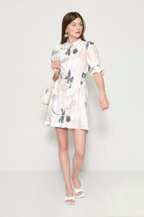 Brush Stroke Mini Dress
