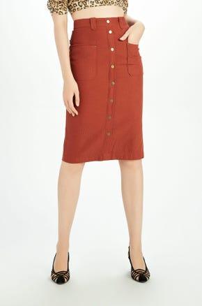 Corduroy Pencil Skirt
