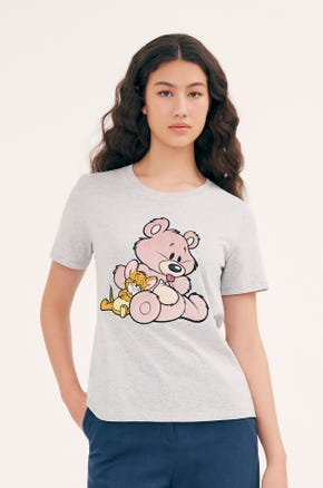 Grey Tom and Jerry T-Shirt