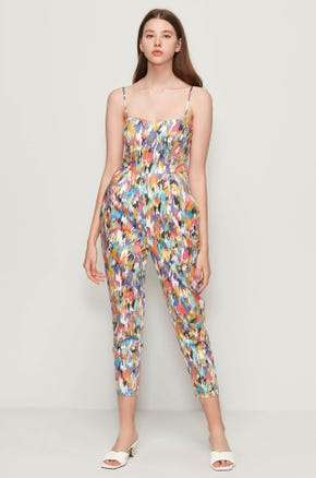 Graphic Cropped Jumpsuit