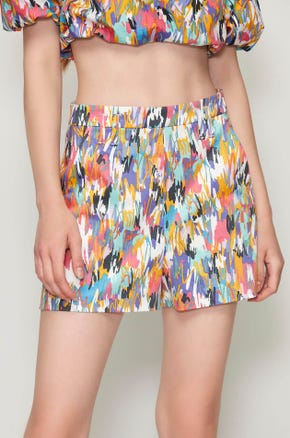Graphic High Waisted Shorts