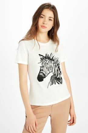 Sequin Zebra T-Shirt