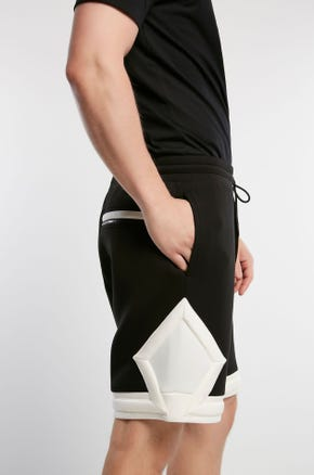 Black and White Athletic Shorts