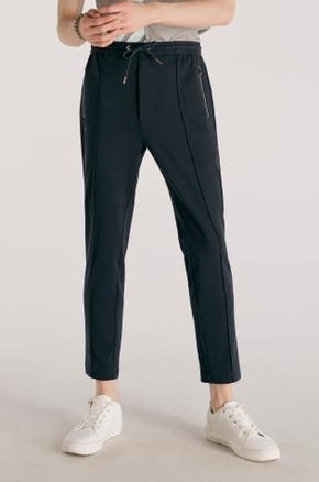 Pleat Front Drawstring Sweatpants