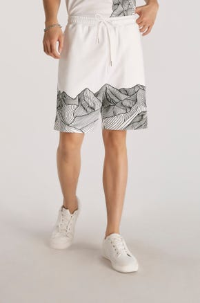 Graphic Athletic Shorts