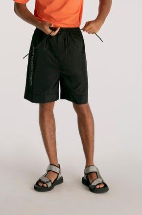 Black Nylon Shorts