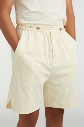 Embroidered Toggle Shorts