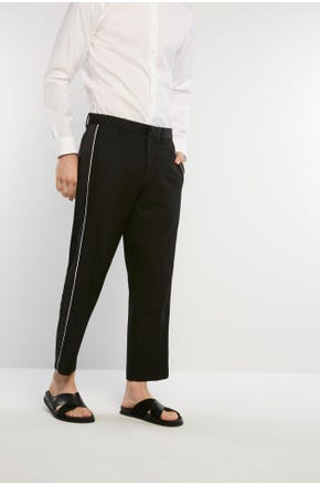 Piped Suit Pants