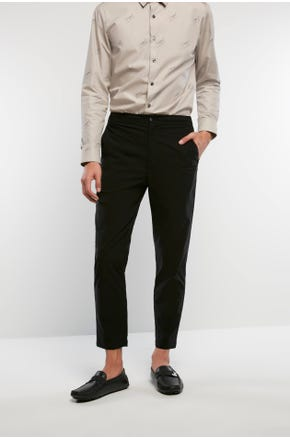 Cropped Black Suit Pants