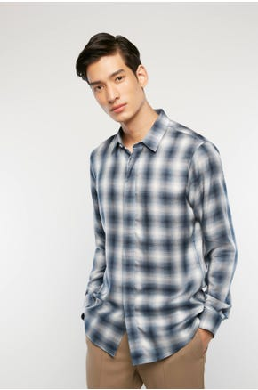 Blurred Plaid Shirt