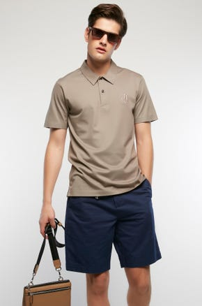 Embroidered Mercerized Polo
