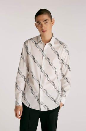 Logo Chain Print Shirt