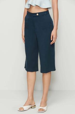 Blue Knee Length Pants