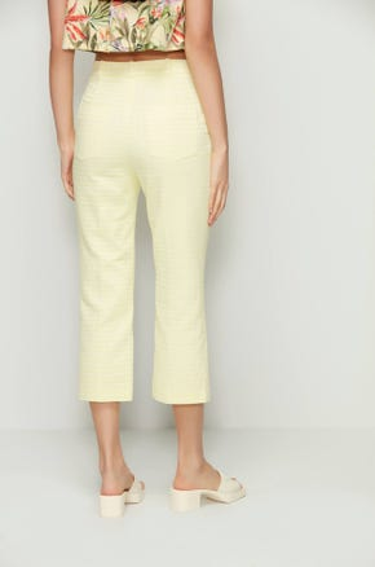 Yellow Kick Flare Pants