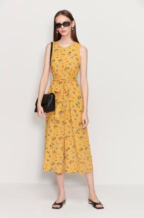 Yellow Culotte Jumpsuit